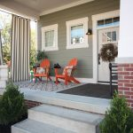 Home Depot Outdoor Rugs with Craftsman Porch and  Covered Patio  Steps  Area Rug  Wreath     Windows