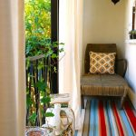 Home Depot Outdoor Rugs with Eclectic Balcony and  Handrail  Outdoor Rug  Outdoor Curtains  Metal Railing  Small