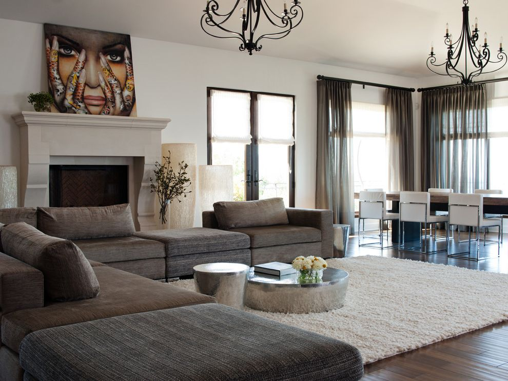 inexpensive area rugs with contemporary family room and dark gray