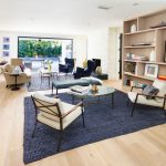 Jcpenney Area Rugs with Transitional Living Room and  White Chimney  Blue Rugs  Two Sitting Areas  Minimalist  Light Wood Floors