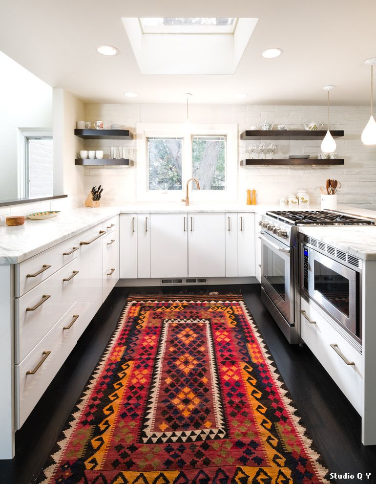 Joss and Main Rugs with Contemporary Kitchen and Kitchen ...