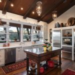 Kitchen Area Rugs with Rustic Kitchen and  Reclaimed Flooring  Accessories  Gooseneck Faucet  Windows Over Sink  Open Shelving