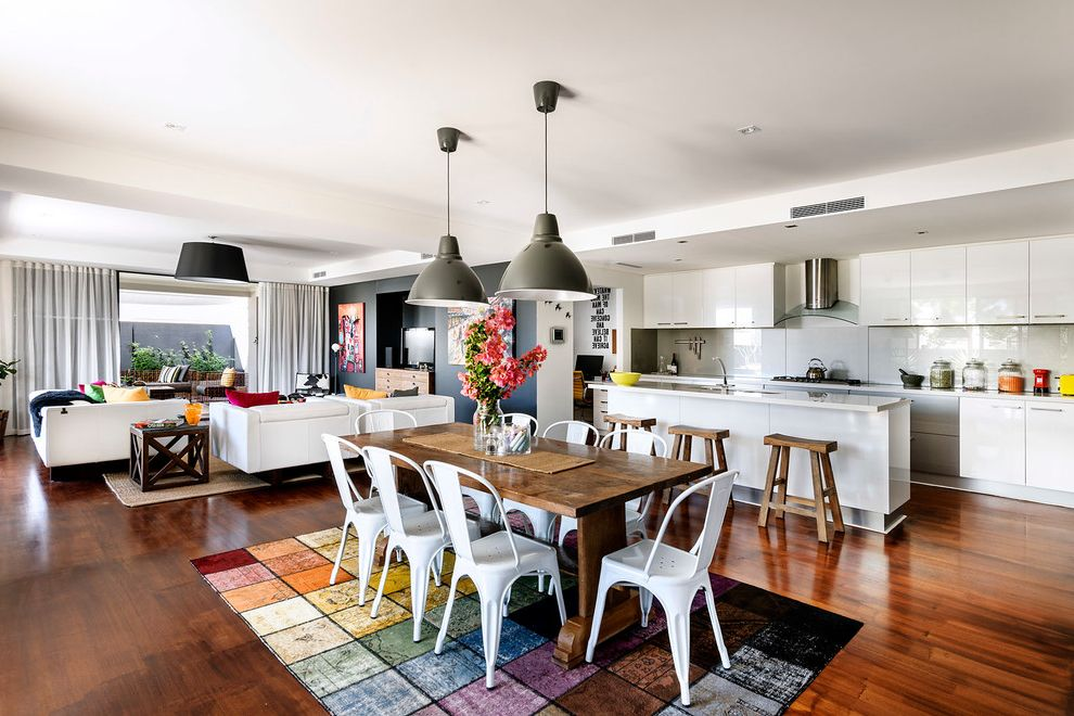 Kitchen Rugs and Mats with Contemporary Dining Room and ...