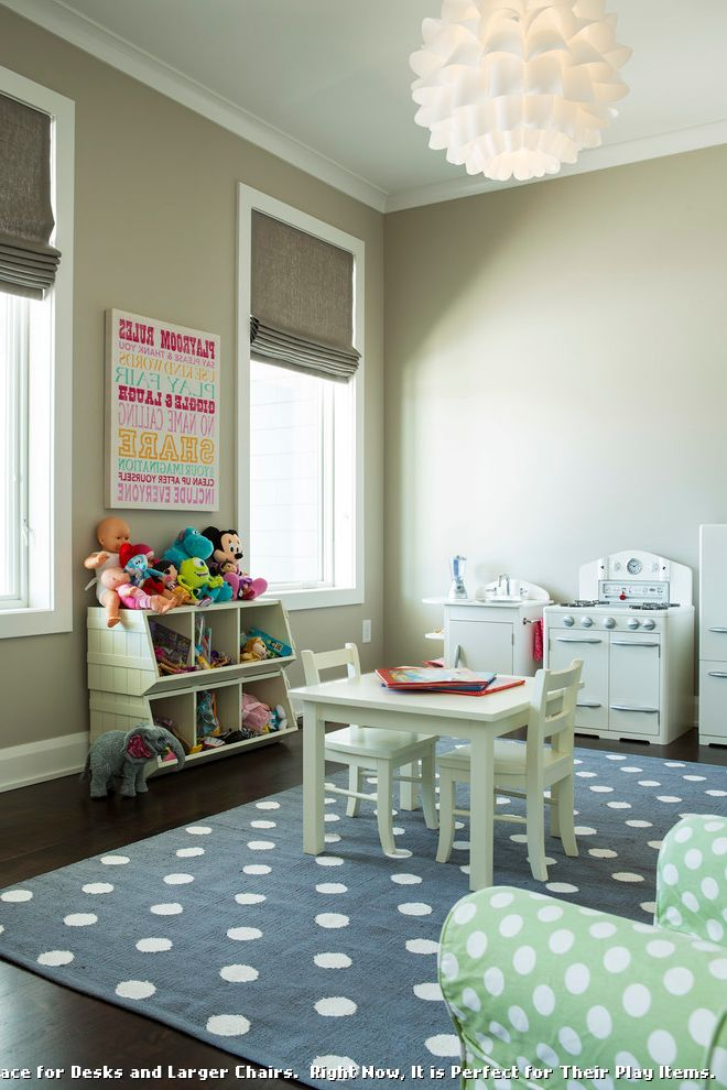 Land of Nod Rugs with Contemporary Kids and Walnut Floors ...