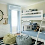 Ll Bean Rugs with Traditional Kids and  Blue Bean Bag  White Bunk Bed  Rope Table Lamp  Striped Rug  Blue and White