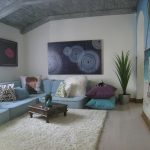 Lowes Area Rugs with Contemporary Kids and  Shag Rug  Wall Mural  Purple  Aqua  Low Coffee Table