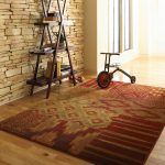 Lowes Area Rugs with Modern Hall and  Light Hardwood Floor  Frosted Glass  Stone Wall  Area Rugs  Wainscoting
