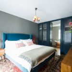 Luxury Bath Rugs with Transitional Bedroom and  Ensuite  Antique Rug  Notting Hill  Open Plan  Teal