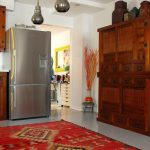 Machine Washable Rugs with Asian Kitchen and  Southwest Rug  Accessories  Tansu     Red Rug  Stainless Steel Refrigerator