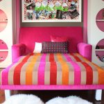Memory Foam Bath Rugs with Eclectic Kids and  Inspiration Board  Bookshelves  Decorative Pillows  Pink  Bright Colors