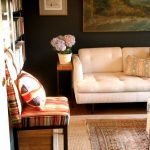 Memory Foam Rug with Eclectic Home Office and  Gallery Wall  Sconce  Wood Flooring     Bold Colors  Bookshelves