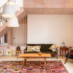 Oriental Rug Cleaning with Contemporary Living Room and  Danish Modern Armchair  Danish Modern Side Table  Danish Modern Sofa  Urban     Brownfild Site