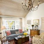 Oriental Rug Cleaning with Eclectic Living Room and  Chest of Drawers  Oriental Rug  Vaulted Ceiling  Wood Trunk     Chandelier