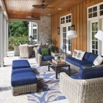 Outdoor Patio Rugs with Traditional Porch and  Outdoor Cushions  Tongue in Groove Wood  White Trim  Outdoor Seating  Outdoor Living