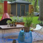 Outdoor Rugs Target with Shabby Chic Style Patio and  Blue Garden Stool  Modern  Diy  Sling  Dallas