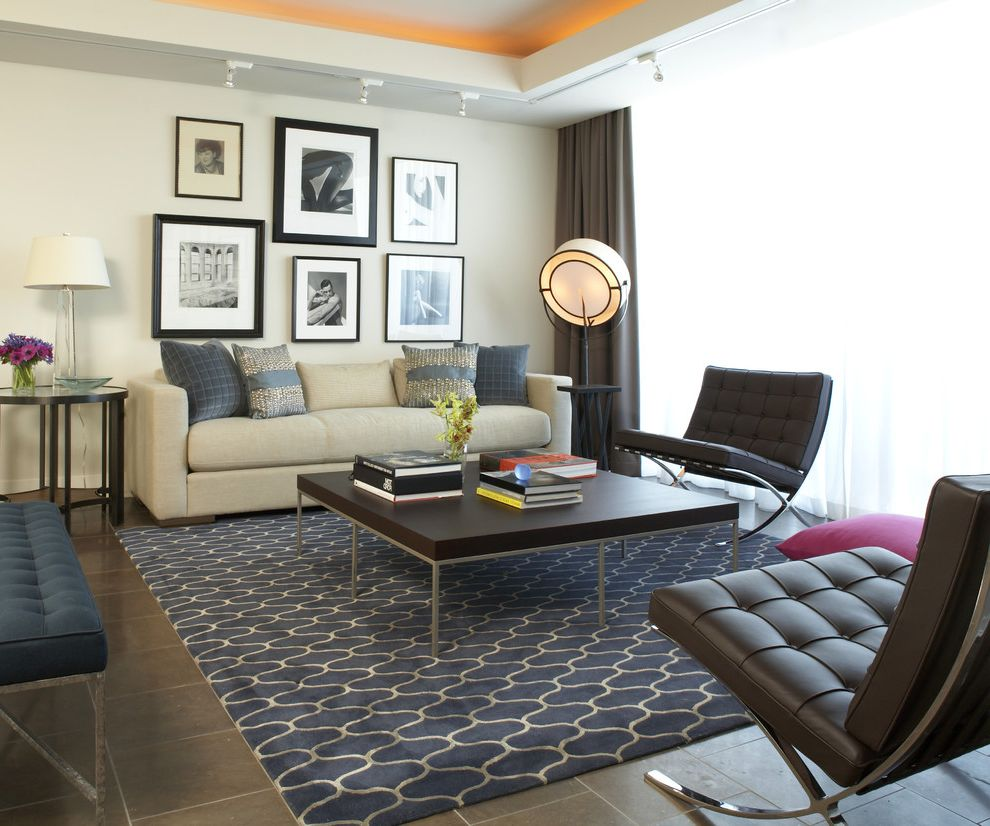 Oval Area Rugs With Modern Living Room And Gallery Wall Tray ...