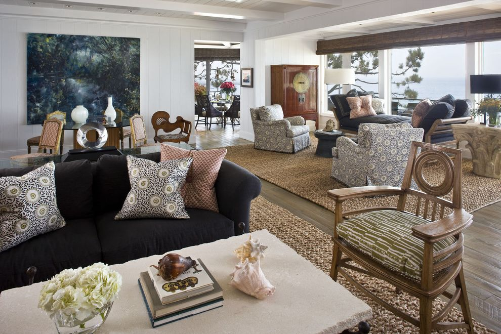 pier 1 rugs with contemporary living room and beach house seating area interior design in orange. Black Bedroom Furniture Sets. Home Design Ideas