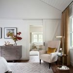 Pottery Barn Area Rugs with Farmhouse Bedroom and  Vaulted Ceiling  Wood Ceiling  Earth Tones  Pillow  v Groove Ceiling