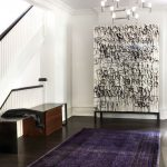 Ra Rugged Man with Contemporary Entry and  Entrance  Walnut  Eclectic  Black and White  Cabinet
