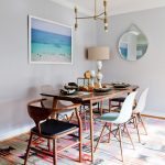 Rent a Rug Doctor with Contemporary Dining Room and  Framed Art  Lamp  Dining Chairs  Wood Table     Chandelier