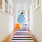 Rent a Rug Doctor with Contemporary Hall and  Timber Flooring     Colorful  Colour  Pendant  Striped Rug