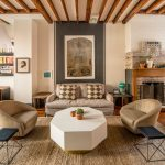 Rent a Rug Doctor with Eclectic Living Room and  Fine Art  Woven Rug     Urban Townhome  Exposed Beams  Fine Art Photography
