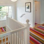 Rent a Rug Doctor with Eclectic Staircase and  Striped Rugs  Baseboards  Modern Icons  Wooden Staircase     White Wood