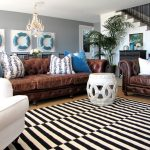 Rent a Rug Doctor with Traditional Family Room and  Blue Velvet  Leather Sofa  White Arm Chair  Pillows  Staircase