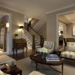 Rooms to Go Rugs with Traditional Living Room and  Leaning Mirror  Dark Floor  Wainscoting  Drum Pendant  Wood Flooring