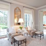 Rubber Backed Rugs with Transitional Living Room and  Neutral Colors  Crown Molding  Baseboards  Drapes  Wood Trim