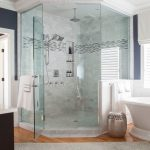Rug Doctor Mighty Pro X3 with Traditional Bathroom and  Benjamin Moore Fossil  Freestanding Tub  Chrome Hardware  Wainscot     Marble Thresholds