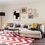 Rug Doctor Parts with Contemporary Living Room and  Framed Art  Colourful  Sectional  Coffee Table  Tall Lamp
