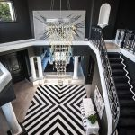 Rug Doctor Rentals with Contemporary Entry and  Staircase  Contemporary  Black and White  Modern Artwork  Dramatic Design