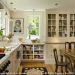 Rug Doctor Rentals with Farmhouse Kitchen and  China on Display  Small Spotlights  China Cabinet  Wooden Table     Wooden Chairs