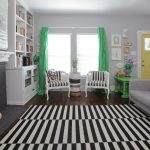 Rug Doctor Rentals with Shabby Chic Style Living Room and  Painted Brick  Books  Black and White Rug  Built in Cabinets  Fake Logs