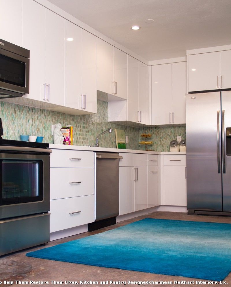 Rugged Maniac Kc with Contemporary Kitchen and Blue Rug Rug ...