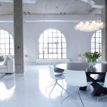 Rugged Ridge Floor Mats with Industrial Living Room and  White High Gloss Floors  White Sofa     Industrial  Loft  Area Rug