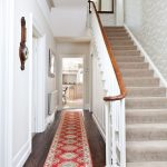 Rugged Ridge Floor Mats with Victorian Hall and  Staircase Carpet  Wooden Floor  Period Features  Classic Contemporary  White Baseboards