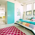 Rugs at Target with Beach Style Bedroom and  White Floor  My Houzz  Framed Map  Colorful Bedroom  Colorful Quilt