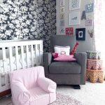 Rugs at Target with Shabby Chic Style Nursery and  San Rafael  Modern Crib  Glider  Floral Wallpaper  Neutral Colors