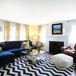 Rugs at Target with Transitional Living Room and  Royal Blue  Black and White  Electric Blue  Gold  Window Treatments
