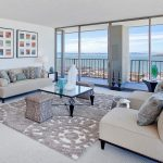 Rugs on Carpet with Contemporary Living Room and  Water View  San Francisco  Ottoman  White Living Room  Glass Coffee Table