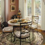 Shaw Area Rugs with Traditional Dining Room and  Round Area Rug