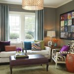 Sit Up Pillow with Arms with Contemporary Living Room and  Eclectic  Nailhead  Blue Curtains  Leather Ottoman  Oly