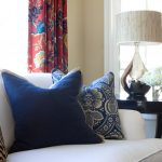 Sit Up Pillow with Arms with Eclectic Living Room and  Custom Pillows  White Sofa  Table Decor  Hydrangeas  Table Lamp