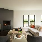 Square Area Rugs with Contemporary Family Room and  Highland Park  Gray Club Chair  Square Print Area Rug  Black and White  Sectional Sofa