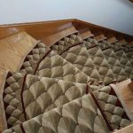 Stair Tread Rugs with Traditional Staircase and  Beige Textured  Traditional Rug  Beige Stair Runner  Rugs for Stairs  Dark Wood Hall Way