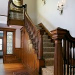 Stair Tread Rugs with Traditional Staircase and  Hall & Stair Runners  Carpet Runner  Quatersawn Oak  Stain Glasss Window  Victorian