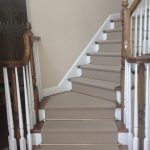 Stair Tread Rugs with Traditional Staircase and  Rug for Stairs  Traditional Rug  Dark Wood Panel Flooring  Stairway  Initials