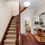 Stair Tread Rugs with Traditional Staircase and  Stair Tread Rugs  Wicker Basket     Traditional Design  Rectangle Mirror  Ceiling Light